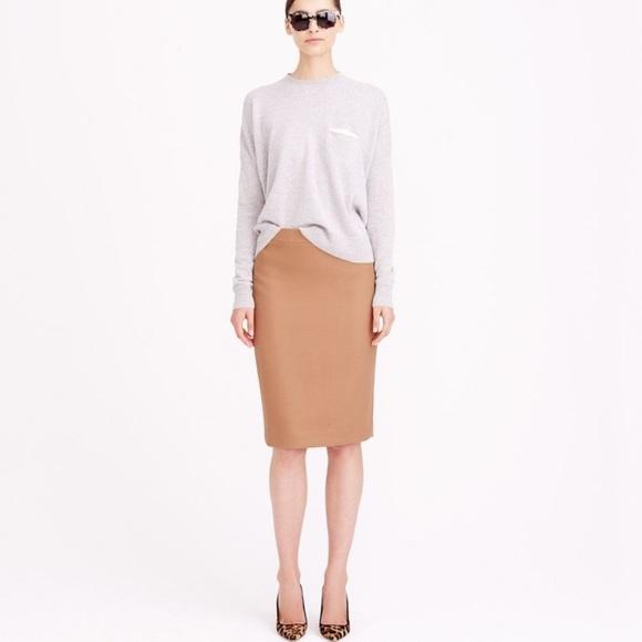 J. Crew Dresses & Skirts - New! J.Crew Wool Pencil Skirt, Camel, Size 6